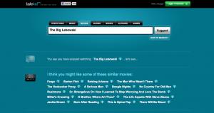 Capture d'écran du résultat d'une requête sur tastekid.com