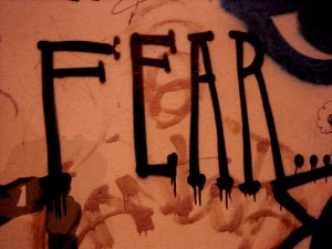Fear graffiti |  Jimee, Jackie, Tom & Asha